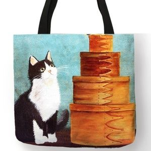 Tote Bag- NEW- Black and White Kitty Cat Tote Bag